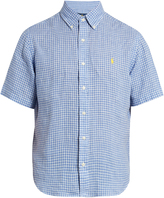 Polo Ralph Lauren Short-sleeved checked linen shirt