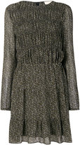 Michael Kors smocked floral dress - women - Polyester - 0