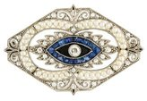 Pearl, Diamond & Sapphire Art Deco Brooch
