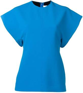 Victoria Victoria Beckham turquoise short sleeve top