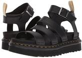 Dr. Martens Vegan Blaire (Black Felix Rub Off/Black Soft PU) Women's Sandals