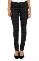 KUT from the Kloth Diana Plaid Stretch Skinny Jeans