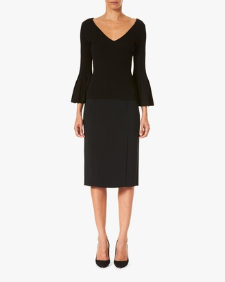 Carolina Herrera Flared-Sleeve V Neck Top