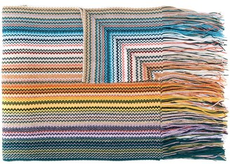 Missoni Striped-Pattern Knitted Scarf