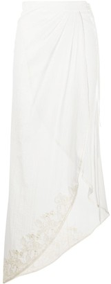 La Perla Floral Embroidered Beach Skirt