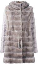 Liska - mink fur hooded puffer coat - women - Mink Fur/Polyester/Goose Down - L