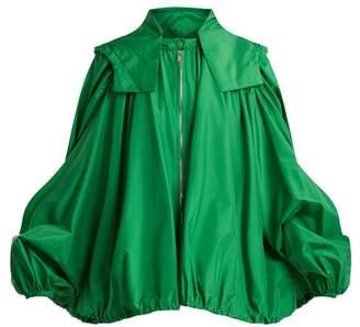 Valentino Oversized Hooded Silk Jacket - Womens - Green