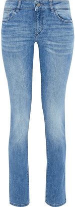 DL1961 Nicky Faded Mid-rise Slim-leg Jeans