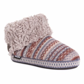 Muk Luks Women's Melinda Bootie Slippers Peach Large M US