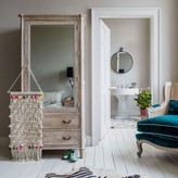 Graham and Green Chantilly Whitewashed Armoire