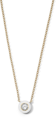 Ippolita 18K Gold Carnevale Stardust Solitaire Necklace, White