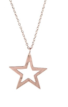 Rosegold Cosmic Open Star Necklace