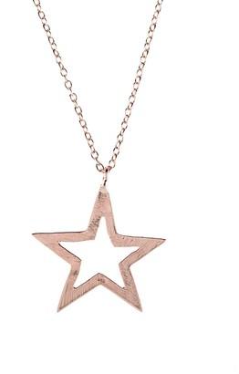 Latelita Cosmic Open Star Necklace Rosegold