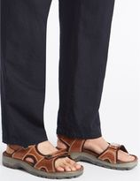 Marks and Spencer Leather Twin Strap Riptape Sandals