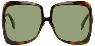 Fendi Tortoiseshell Square Sunglasses
