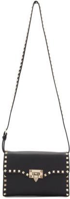 Valentino Black Garavani Small Rockstud Flap Bag