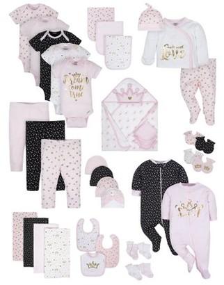 Gerber Baby Girls Organic Newborn Clothes Shower Gift Set, 39-Piece