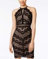 Morgan and Company Juniors' Lace Halter Sheath Dress