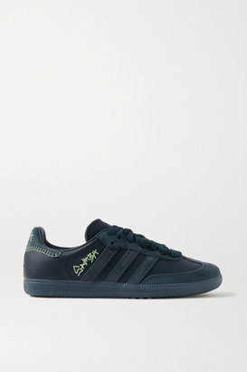 adidas Jonah Hill Samba Leather And Suede Sneakers - Petrol