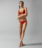 Reiss Raquel - Pleat Detail Bikini Briefs in Red