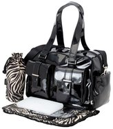 OiOi Patent Carryall Diaper Bag, Black by