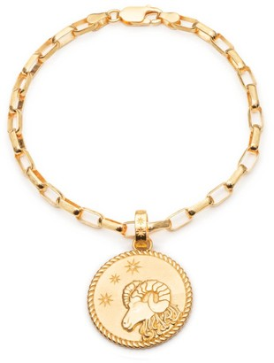 Rachel Jackson London Statement Zodiac Art Coin Aries Bracelet Gold