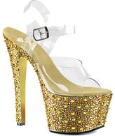 Pleaser USA Women's Bejeweled 708SP Ankle Strap Sandal