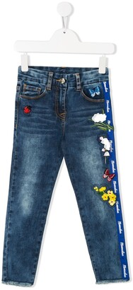 MonnaLisa Floral Butterfly Jeans