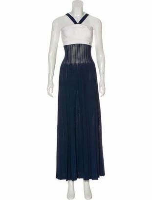 Chanel Sleeveless Maxi Dress Navy