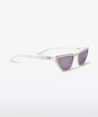 Ksubi Kim Sunglasses Shiny White