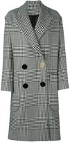 Petar Petrov checked double breasted coat - women - Cupro/Wool - 38