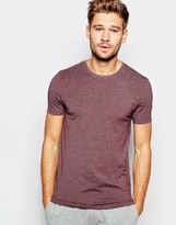 Asos Loungewear Muscle T-shirt With Crew Neck And Stretch - Red