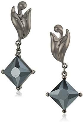 Badgley Mischka Swirl Square Drop Earrings