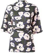 Marni Whisper print open back blouse
