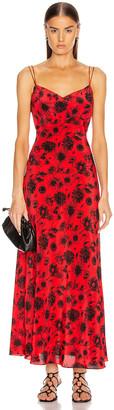 Les Rêveries Maxi Silk Cami Dress in Wild Daisy Red | FWRD