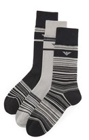 Emporio Armani 3 Pack Stretch Cotton Crew Socks