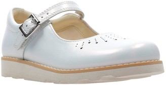 Clarks Older Girls Crown Jump Shoe - White