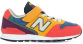 New Balance 996 FAUX LEATHER & MESH SNEAKERS