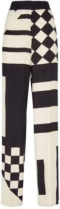 Akris Wide-Leg Silk Trousers