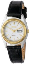 Seiko Women's SUT112 Stainless Steel Watch with Leather Band