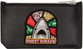Saint Laurent Black Sweet Dreams Shark Fragments Card Holder