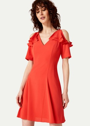 Phase Eight Juna Ruffle Cold Shoulder Dress