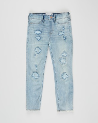 Abercrombie & Fitch High-Rise Pull-On Ankle Jeans - Teens