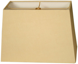 Royal Designs, Inc. Rectangle Hard Back Lamp Shade, Antique Gold