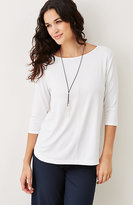 J. Jill Wearever Boat-Neck Top