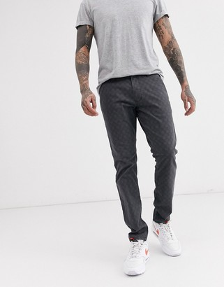 Esprit small check trouser in grey