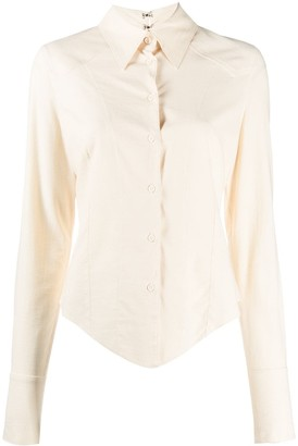 Charlotte Knowles Fitted Button-Up Shirt