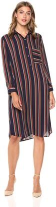 Velvet by Graham & Spencer Women's Pero School Stripe Challis Dress