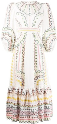Zimmermann embroidered detail dress