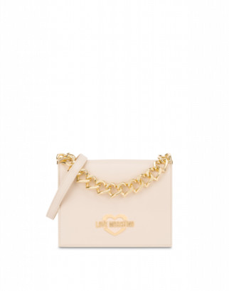 Love Moschino Handbag Hearts Chain Woman White Size U It - (one Size Us)